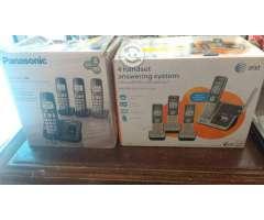 Telefonos inalanbicos 4 at&t y panasonic