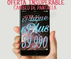 Cambio de Pantalla iPhone 6 Plus Garantizado, Región Metropolitana