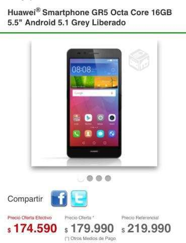 Celular alta gama Huawei Gr5 , VI O`Higgins