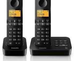 Telefono inalambrico Philips 2 bases 2 equipos contestador