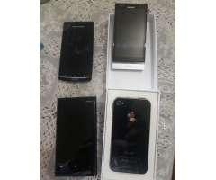 Telefonos iPhone Ericson Moto E Nokia