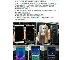 S7, S7 Edge, Note 5, V10, G5, Htc Bolt