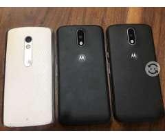 Teléfonos Motorola G4 y Xplay