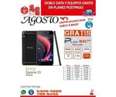 HTC Desire 10 Lifestyle Gratis en Plan de 50.00