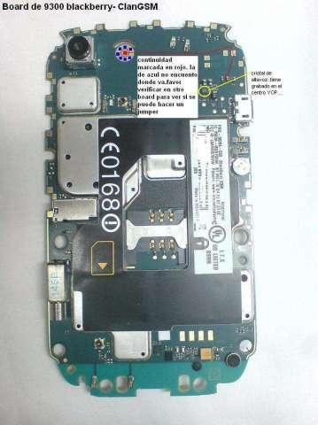 tarjeta logica de blackberry 8900