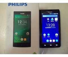 Celular philips 398 impecable completo 1800 pesos en caja