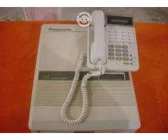 Conmutador panasonic 3 lineas 8 exts con telefono
