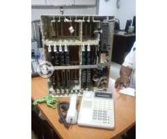 Central kx-t616 hibrida y telefonos panasonic