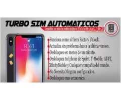 Desbloqueo con Turbo sim automatico para todos los iphone 4GLTE