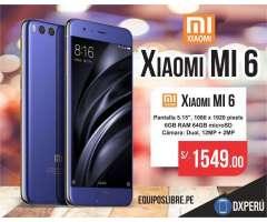 Xiaomi Mi6 6gb Ram 64gb Snapdragon 835 Nuevo / Entrega en Tienda / Garantia