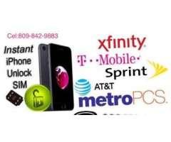Turbo sim para iPhone 4s, 5,5c, 5s, 6,6S y 6, 6+,7,7+,8,8+y X DE T-MOBILES CON DATA Y TODO INCLUIDO