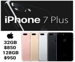 iPhone 7 plus 32gb, 128gb nuevos