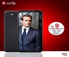LG Q6 A 9 SOLES PLAN CLARO 149