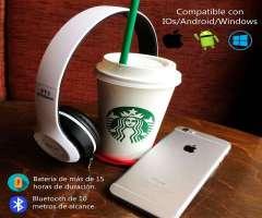 ¡AUDIFONOS BLUETOOTH, MP3 Y RADIO COMPATIBLE PARA CUALQUIER DISPOSITIVO!