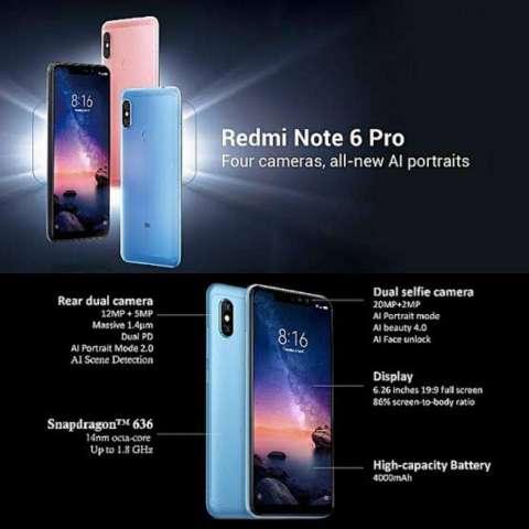 Xiaomi Redmi Note 6pro Nuevo Y Sellado