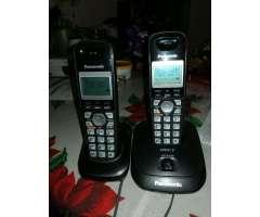 Teléfono Inalambrico Doble Panasonic