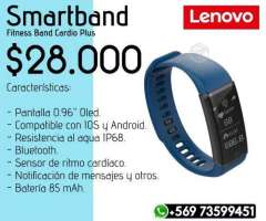 Smartband Lenovo Cardio Azul - Valdivia