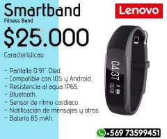 Smartband Lenovo Fitness Band Negro - Valdivia