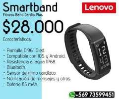 Pack Smartband Lenovo + Audifonos Syllable D3x - Valdivia