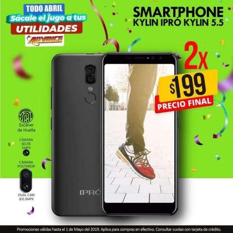 """Teléfono celular smartphone IPRO Kylin pantalla 5.5"""", azul"""