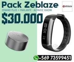 PAck Smartband Zeblaze + Parlante XIaomi Mini - Valdivia