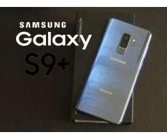 Vendo Samsung Galaxy S9 Plus Azul en caja todos los acesorios y garantia 525 Poco Neg