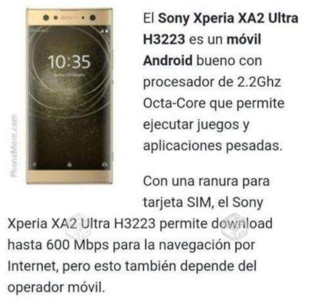 Sony Xperia X A2 ultra - Antofagasta