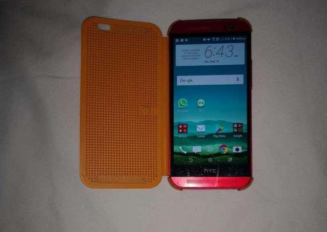 HTC ONE M8 EDICION RED 32GB MEMORIA LIBRE MAS COVER ORIGINA