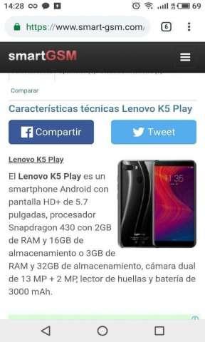 Lenovo K5 Play 32gb Doble Cámara