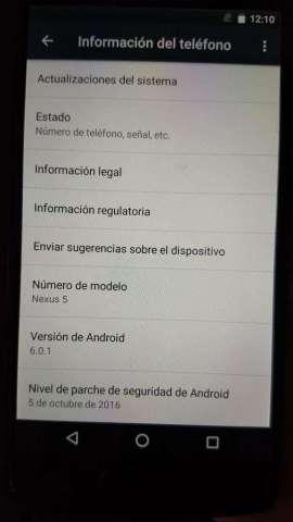Celular LG Nexus 5, 32 GB de memoria interna