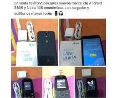 Celular Zte Z835 Y Nokia105