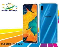 SAMSUNG A30 64GB/4RAM    OBSEQUIO MEMORIA 32GB SOMOS TELEFONIA VIRTUAL PERU 964334420