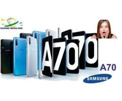 SAMSUNG GALAXY  A70 128GB/6RAM MICA DE VIDRIO & MEMORIA SOMOS TELEFONIA VIRTUAL PERU 9...