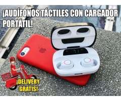 Audífonos bluetooth con cargador portátil pantalla led DELIVERY GRATIS