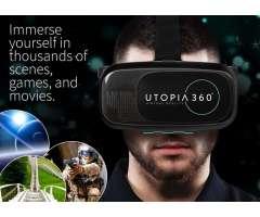 Lentes de Realidad Virtual 360ª para celulares incluye control bluetooth
