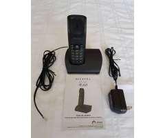 Teléfono Negro Inalámbrico Alcatel A60 Biloba 6.0ghz Iluminado